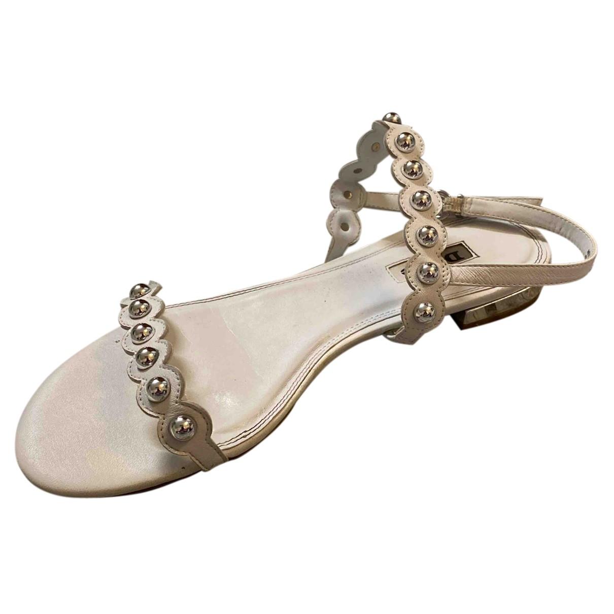 Dune - Sandales   pour femme en cuir - blanc