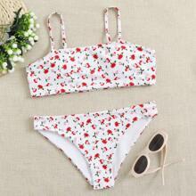 Ditsy Floral Cami Bikini Swimsuit