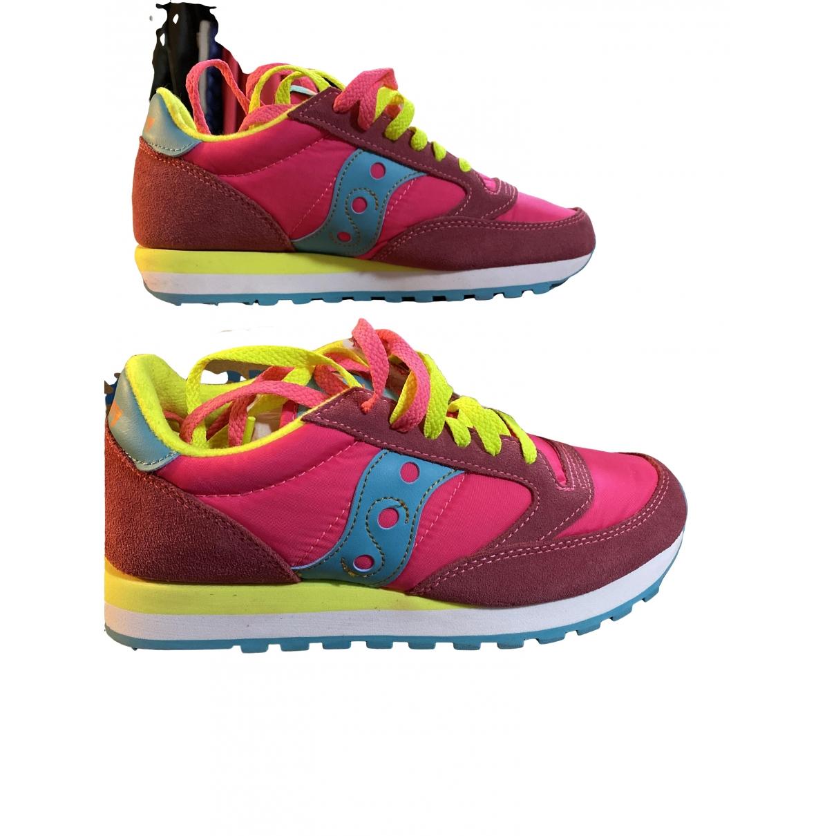 Saucony \N Sneakers in  Rosa Leinen