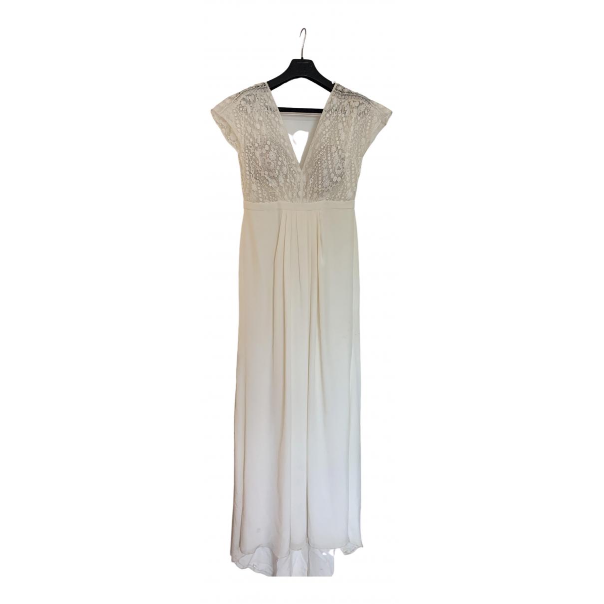 Laure De Sagazan \N Kleid in  Weiss Seide
