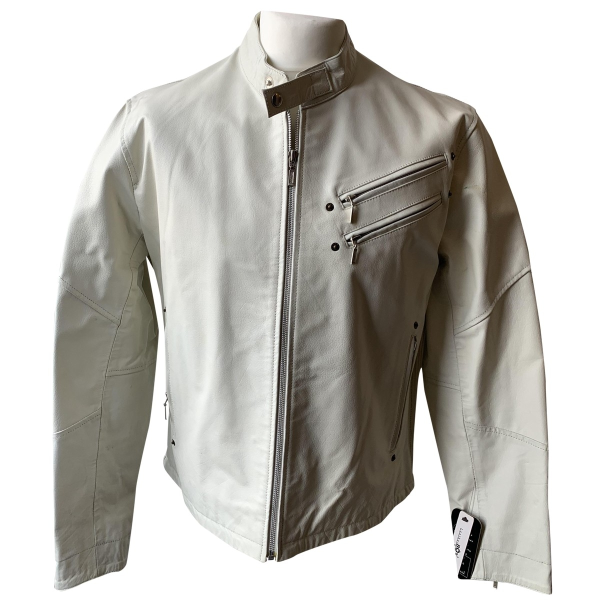 Non Signe / Unsigned \N Jacke in  Weiss Leder