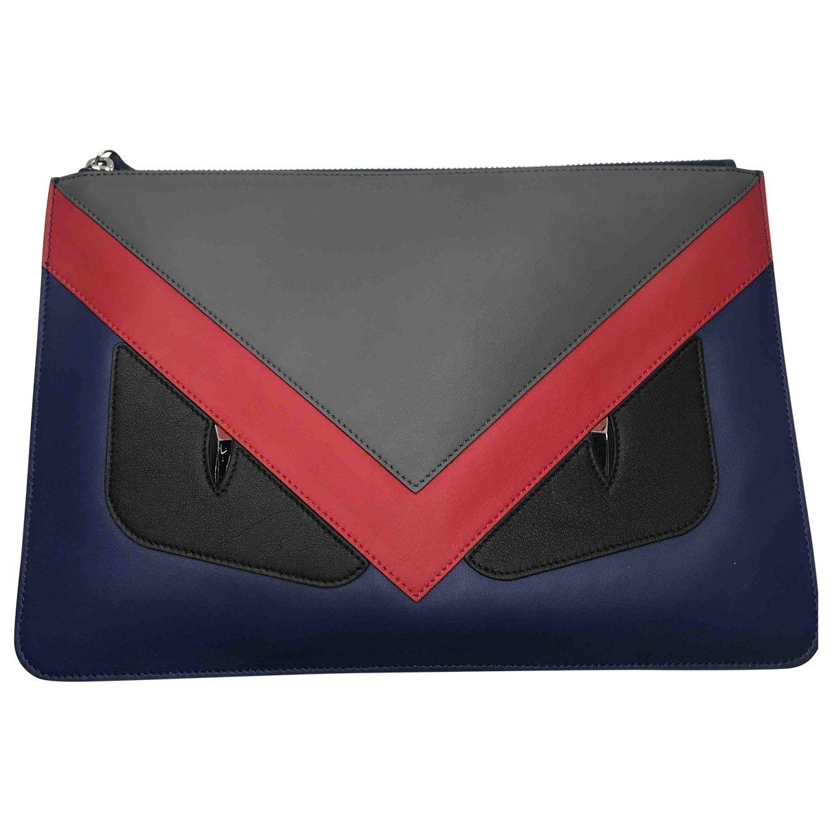 Fendi \N Multicolour Leather Small bag, wallet & cases for Men \N