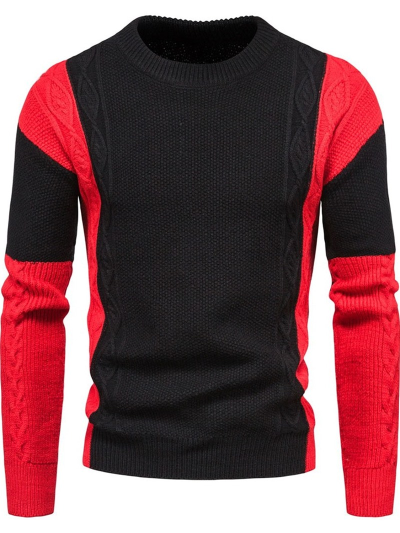 Ericdress Patchwork Color Block Standard Fall England Sweater