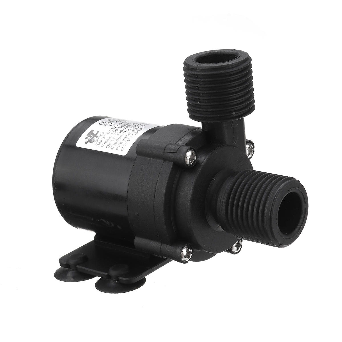 24V/12V Hot Water Pump for Circulating Micro DC Water Pump With 1/2 Inch Threaded Multifunction Brushless Quiet Submersi