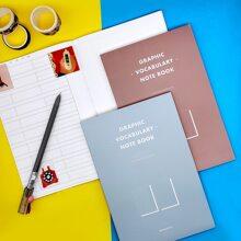 1 Pack zufaelliges Notizbuch mit Buchstaben Grafik