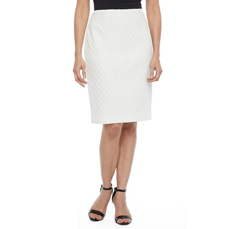 Black Label by Evan-Picone Suit Skirt, 4 , White