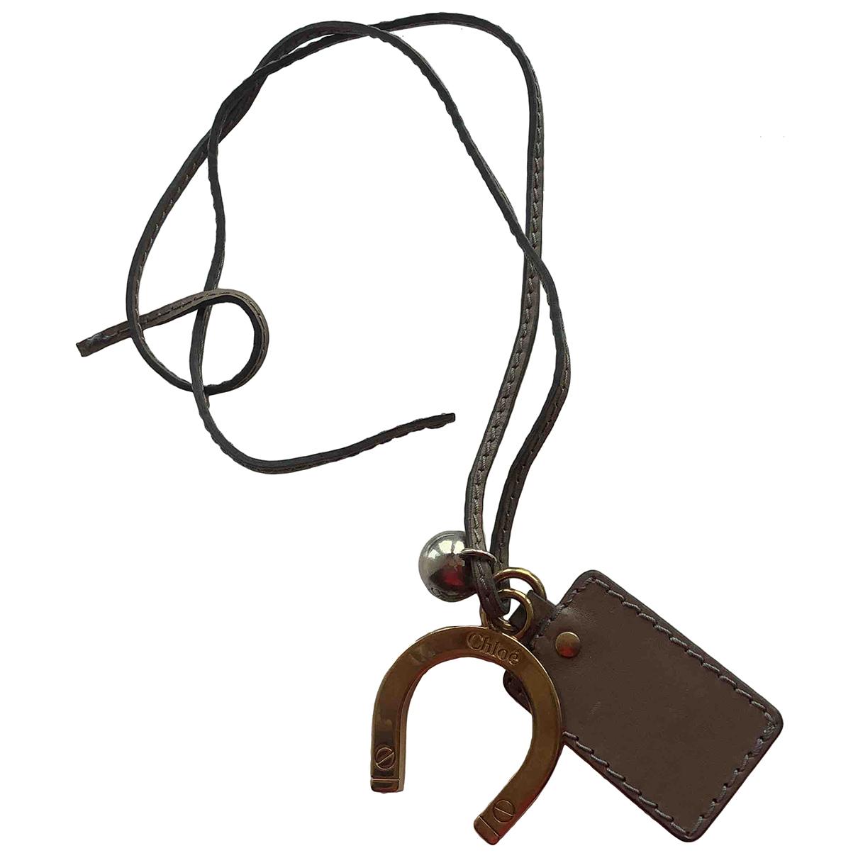 Chloe - Bijoux de sac   pour femme en cuir - marron