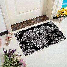 Bodenmatte mit Elefant Muster