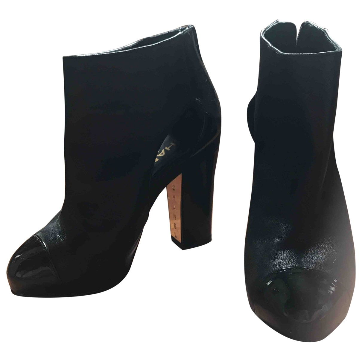 Chanel \N Black Leather Ankle boots for Women 35 EU