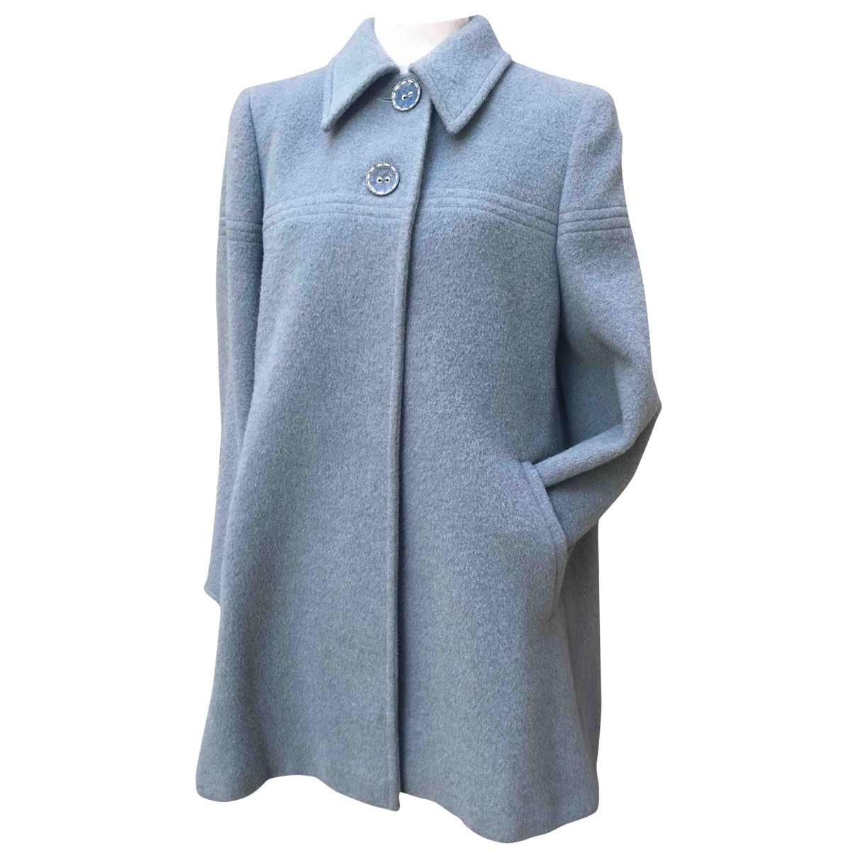 Valentino Garavani \N Blue Wool coat for Women 40 IT