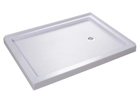 DLT-1036482 Slimline 36 In. D X 48 In. W X 2 3/4 In. H Right Drain Double Threshold Shower Base In