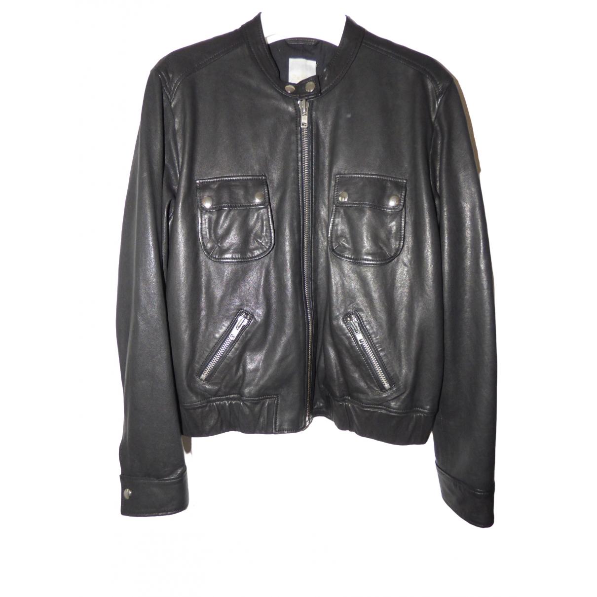 Pablo \N Black Leather Leather jacket for Women 42 FR