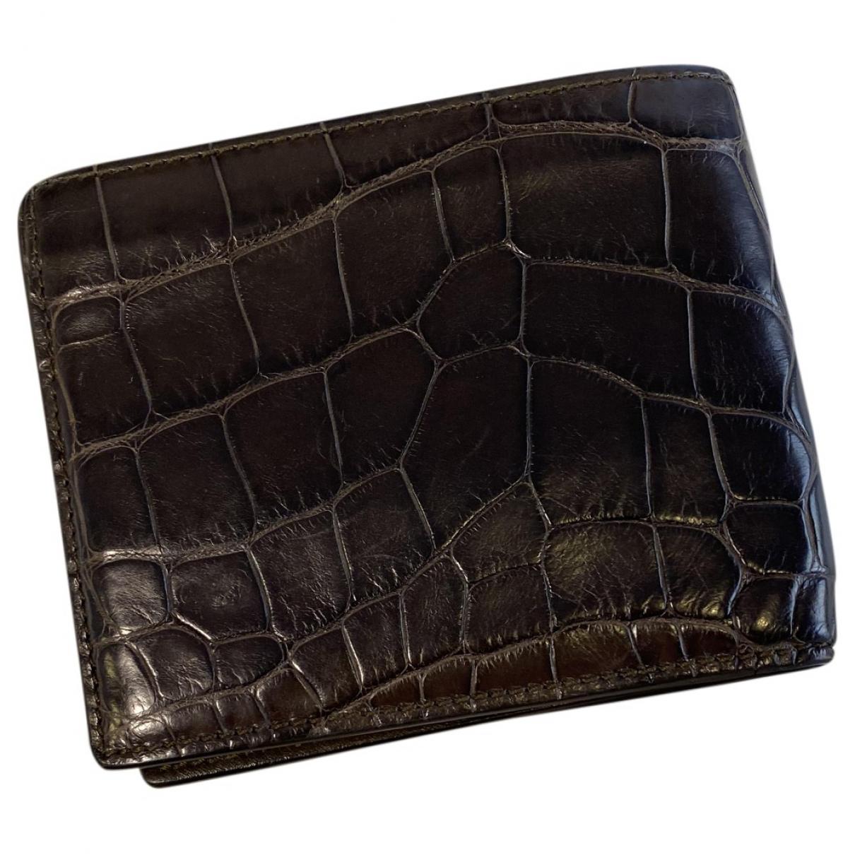 Gucci - Portefeuille   pour femme en crocodile - marron