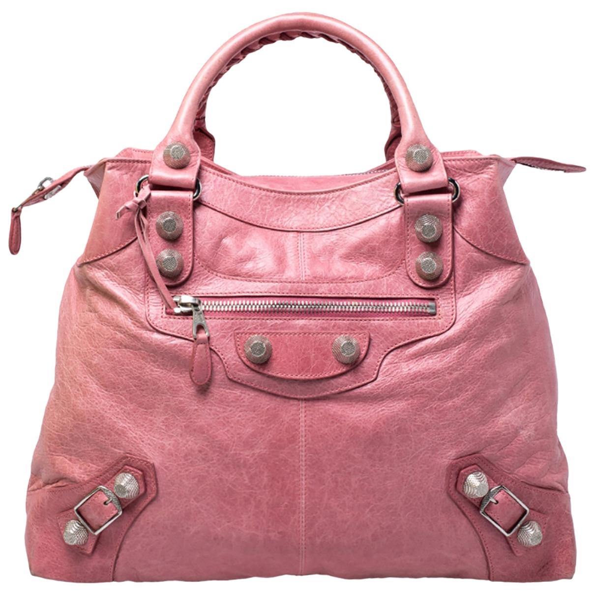 Balenciaga \N Pink Leather handbag for Women \N