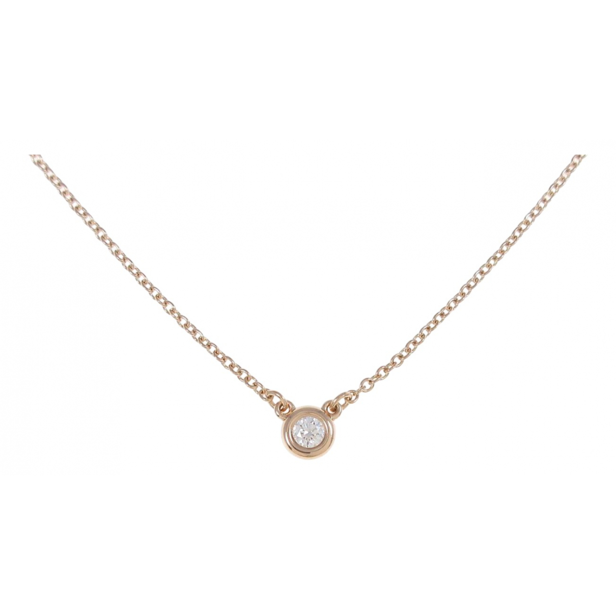 Tiffany & Co - Collier Elsa Peretti  pour femme en or rose - dore