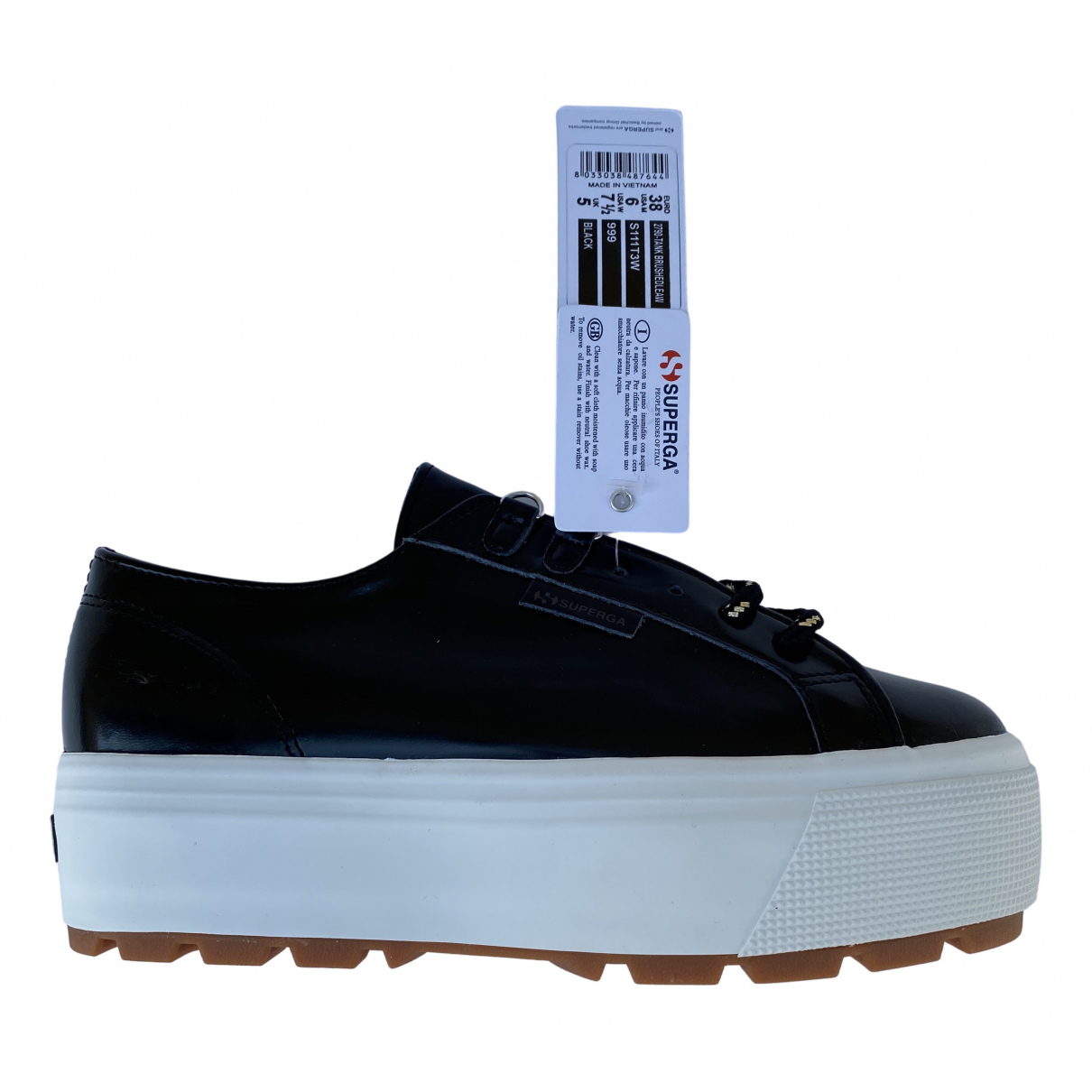 Superga \N Sneakers in  Schwarz Kautschuk