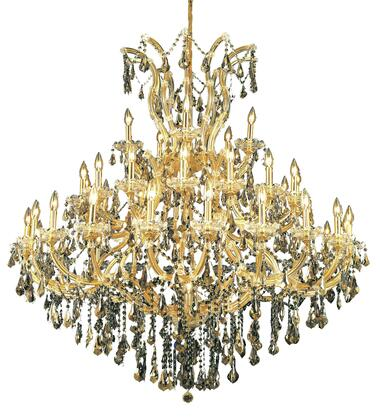 2801G52G-GT/RC 2801 Maria Theresa Collection Large Hanging Fixture D52in H54in Lt: 40+1 Gold Finish (Royal Cut Golden