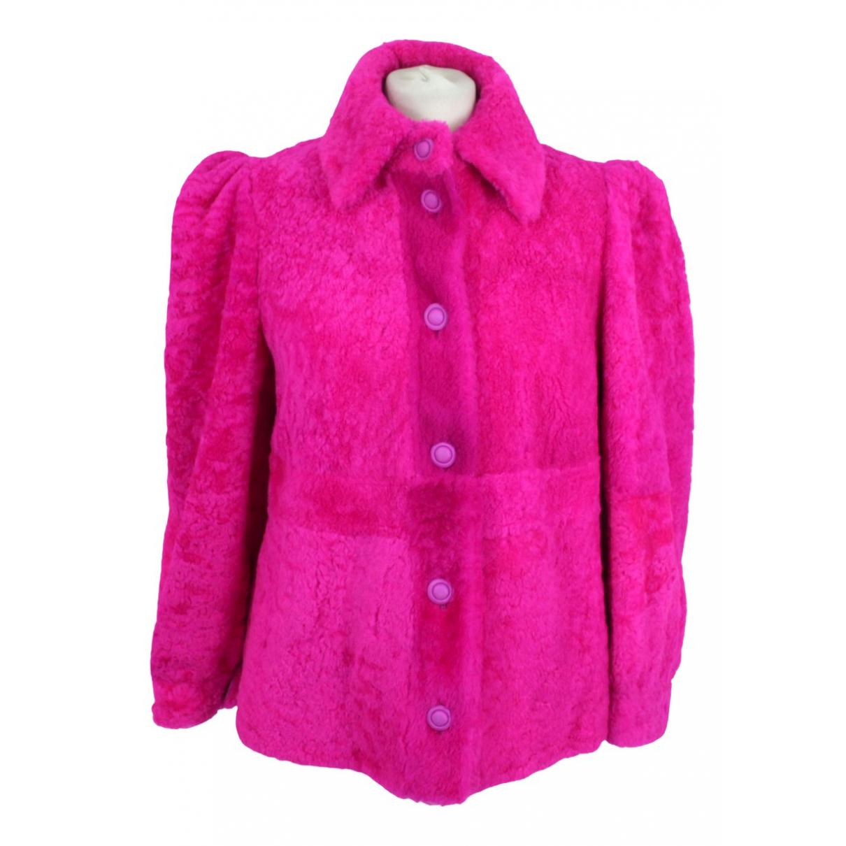 Mulberry - Veste   pour femme en mouton - rose