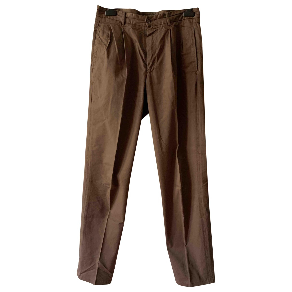Henry Cotton \N Brown Cotton Trousers for Men 46 IT