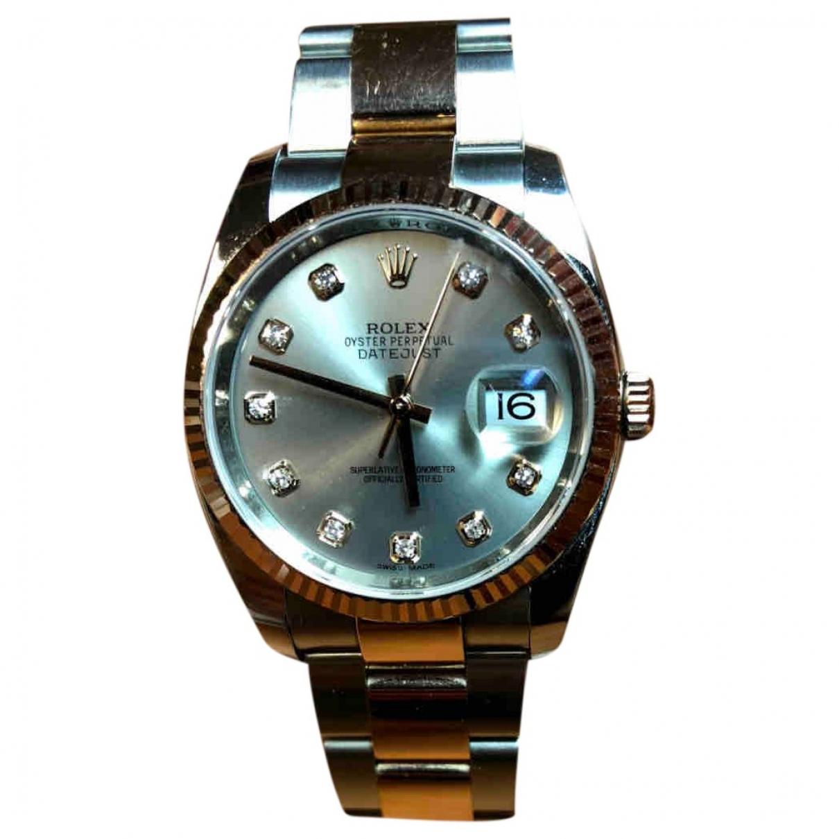 Rolex - Montre Datejust 36mm pour femme en or et acier - metallise