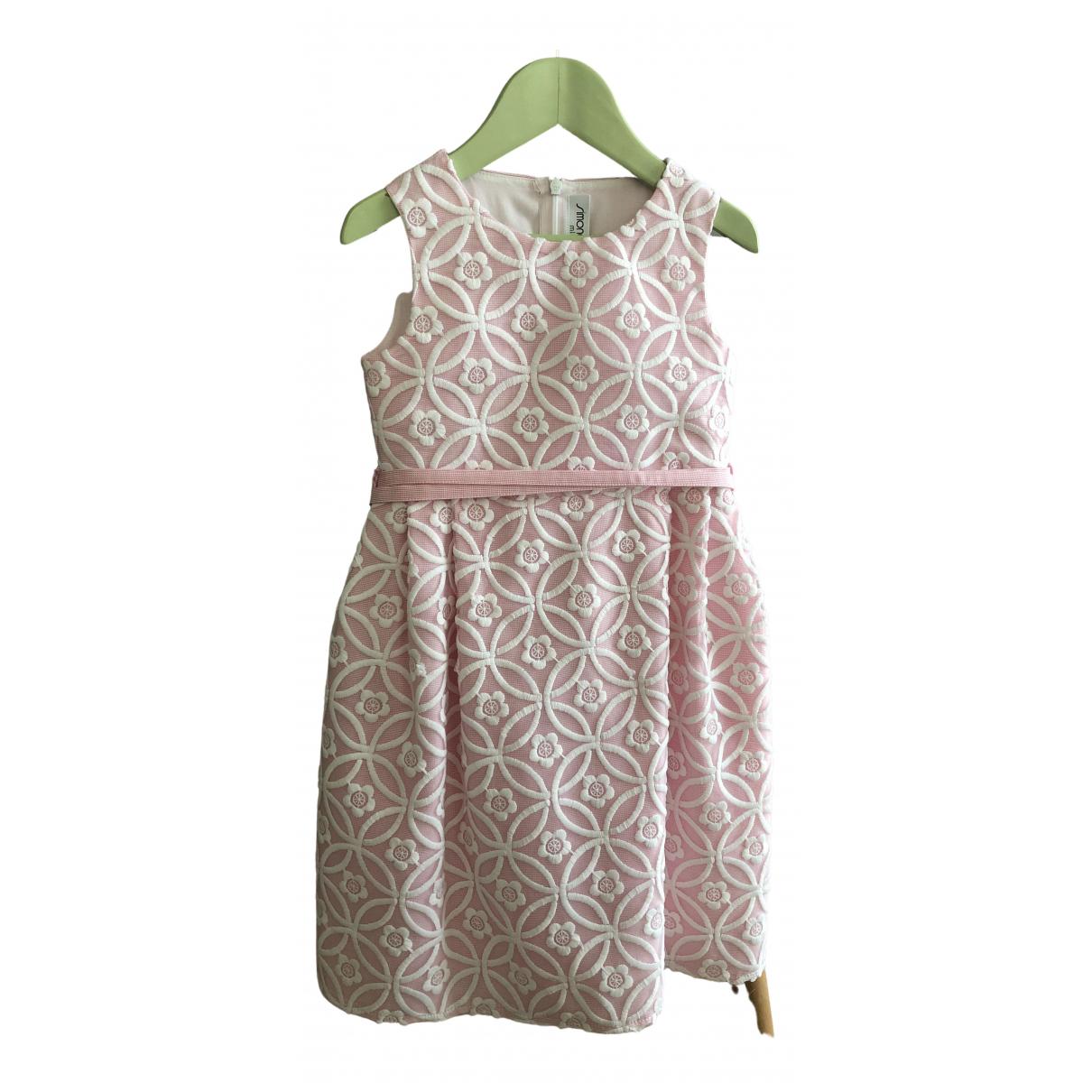 Simonetta - Robe    pour enfant en coton - rose