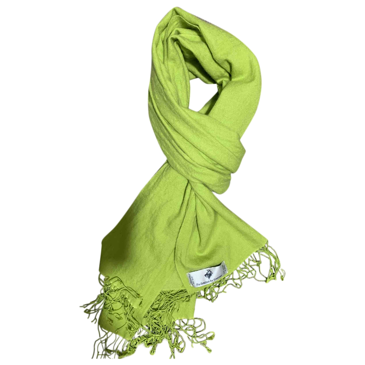 Non Signé / Unsigned \N Green Silk scarf for Women \N