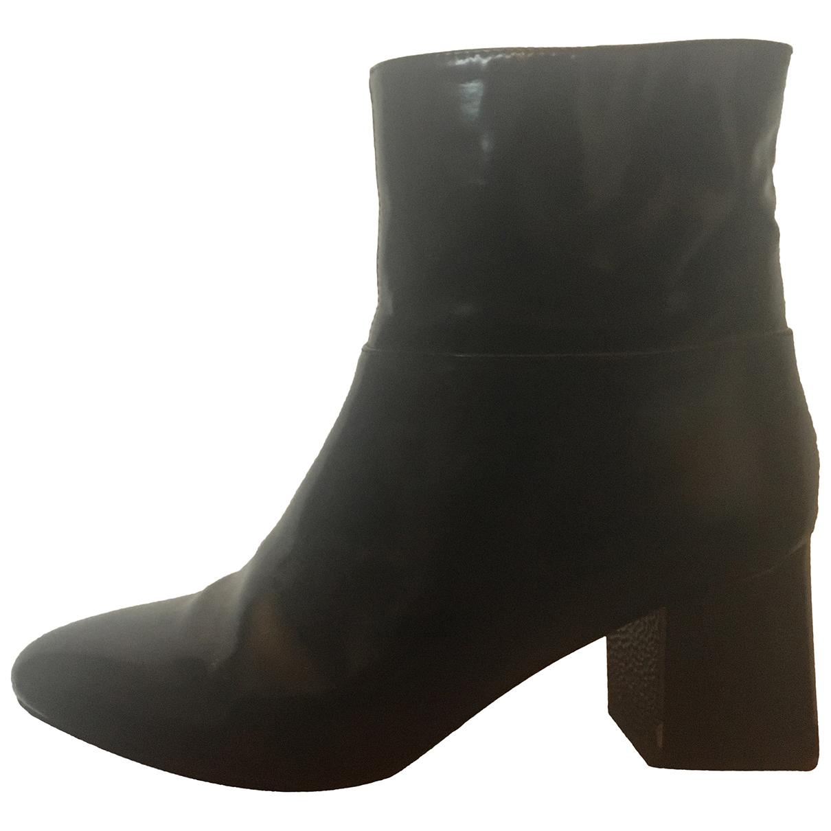 Jil Sander N Black Patent leather Espadrilles for Women 38 EU