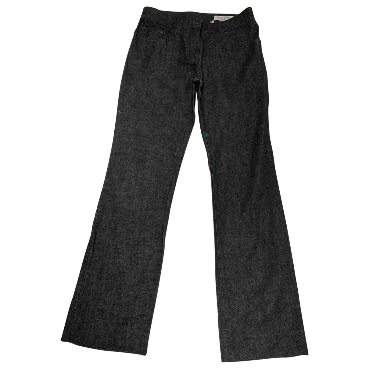 Yves Saint Laurent \N Grey Cotton Jeans for Women 38 FR
