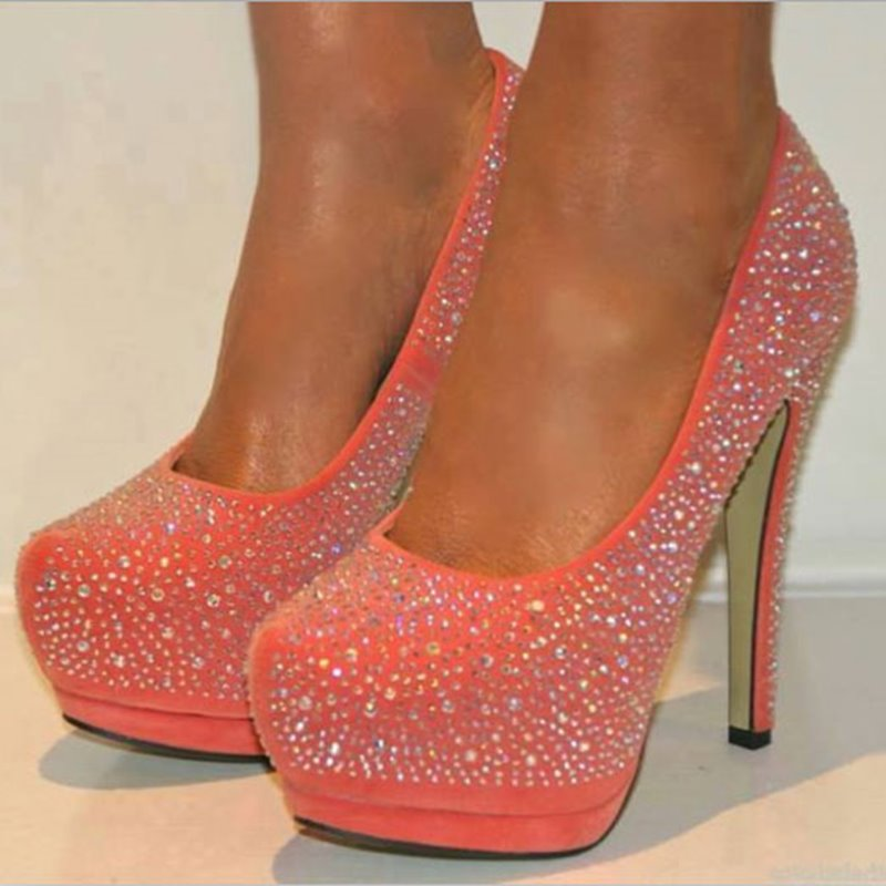 Sparkle Pink Rhinestone Sky-high Heels