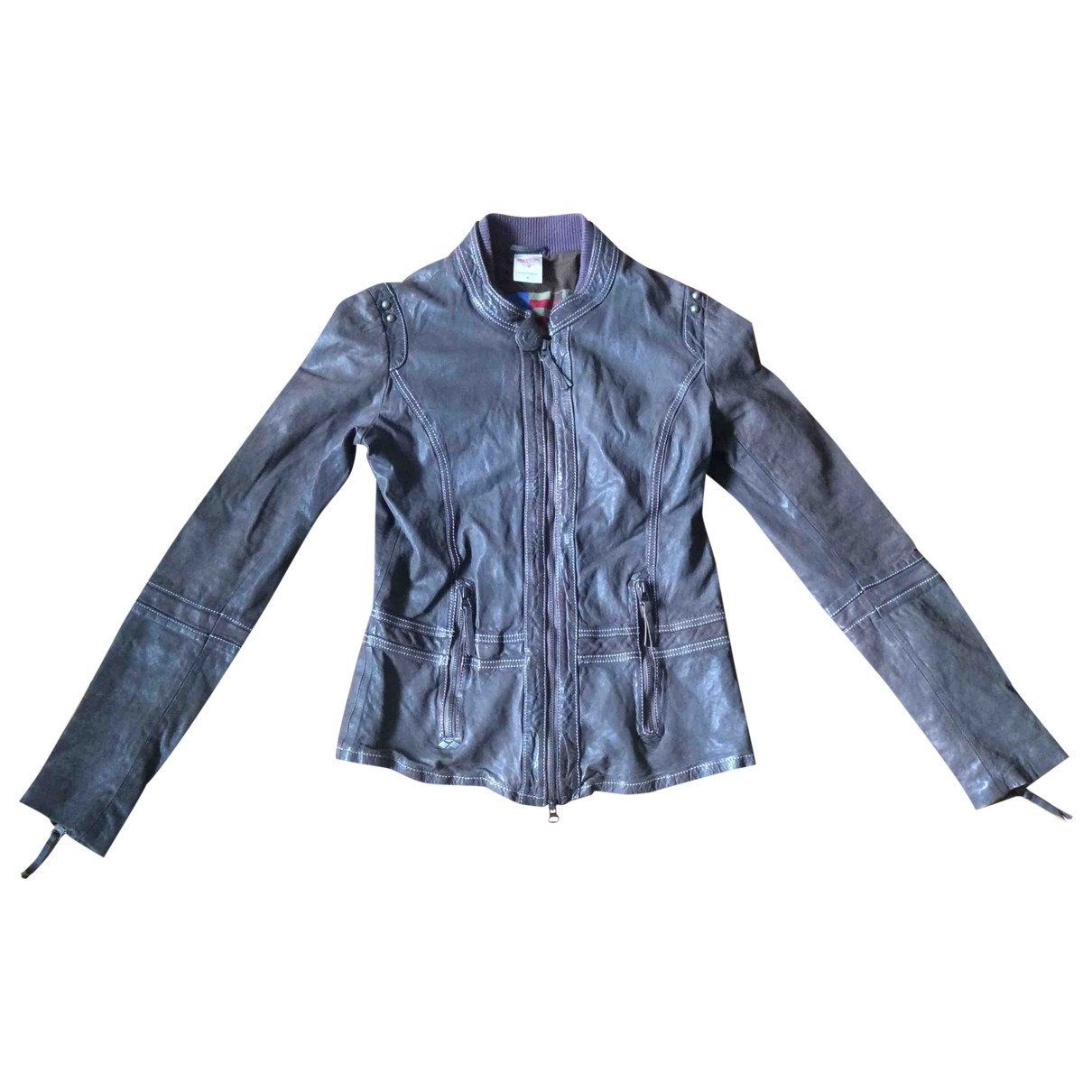 True Religion \N Brown Leather jacket for Women M International