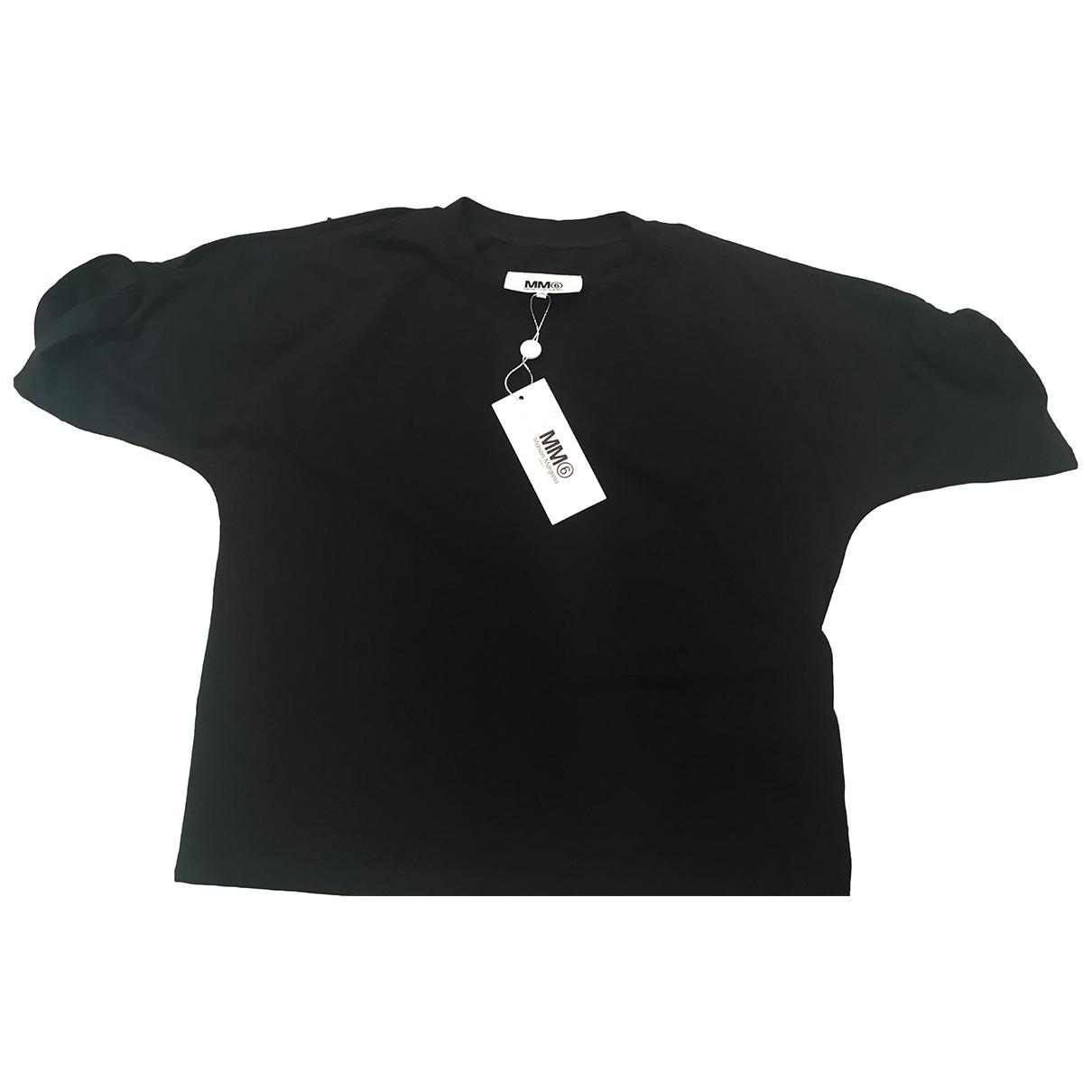 Mm6 - Top   pour femme en coton - noir