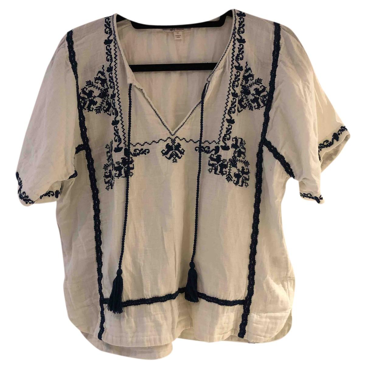 Ella Moss - Top   pour femme en coton - blanc