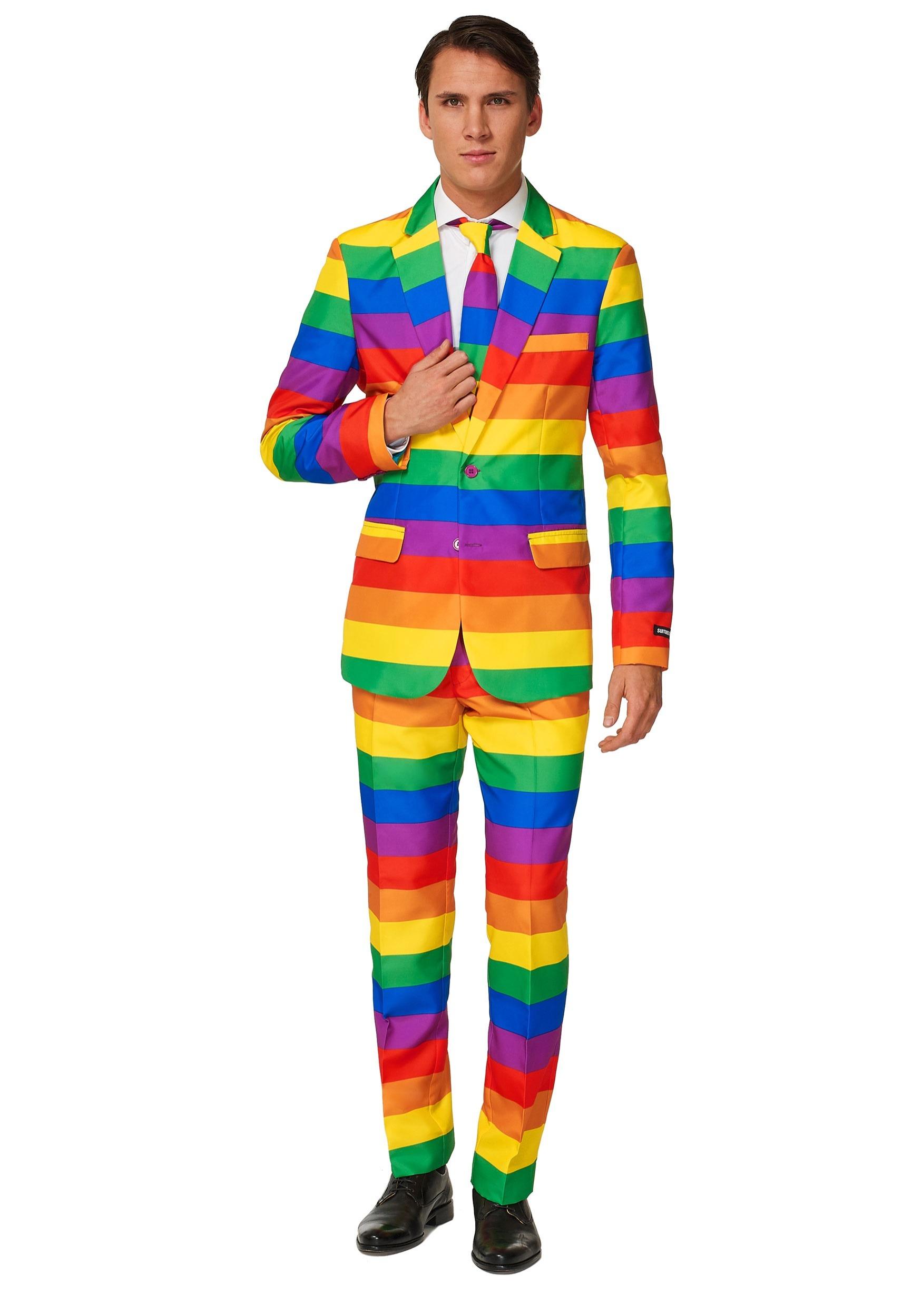 Men's Rainbow Suitmeister Suit Costume