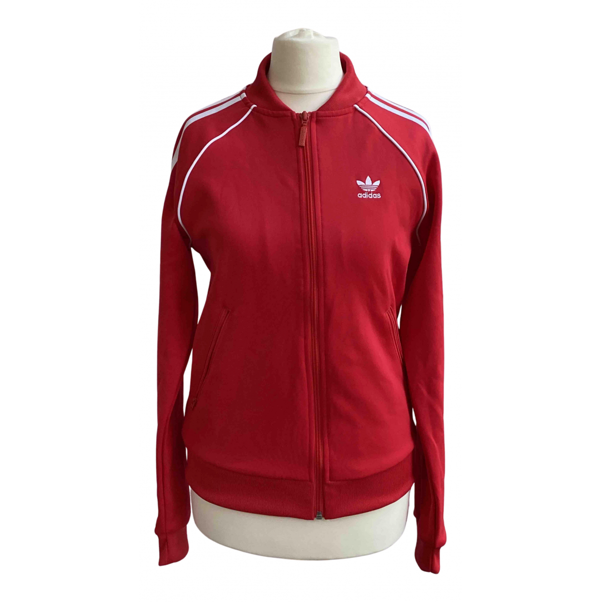 Adidas \N Jacke in  Rot Polyester
