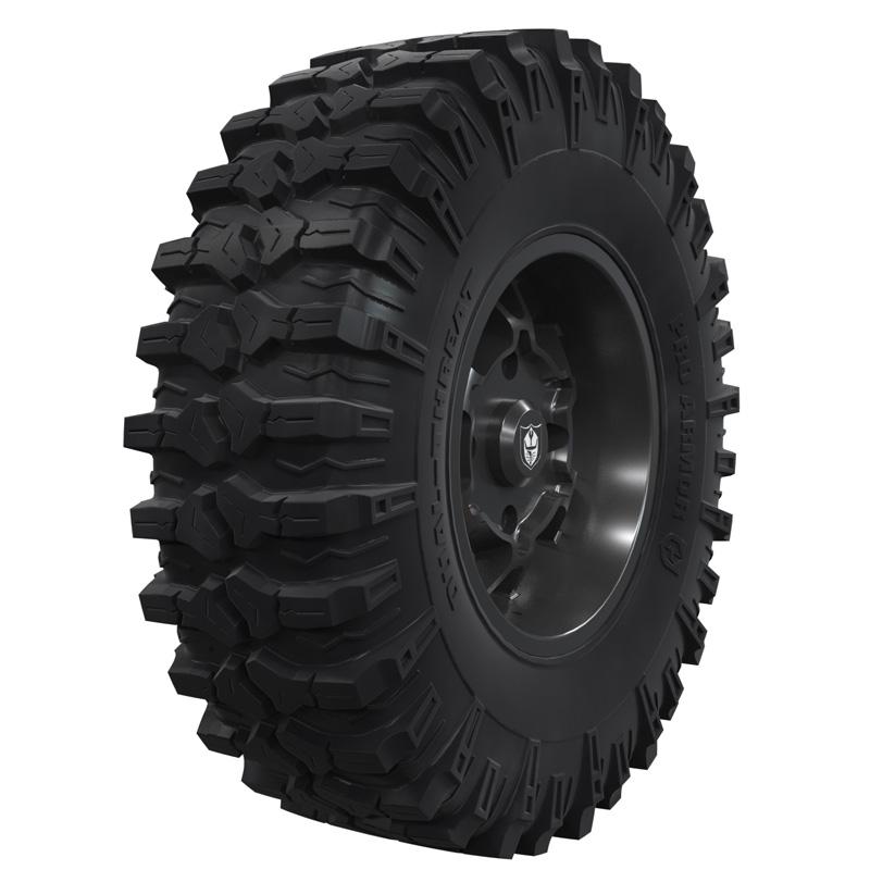 Polaris OEM 2883693 Pro Armor Wheel & Tire Set: Cyclone - Matte Black - 15