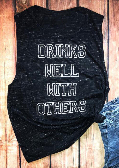 Drinks Well With Others O-Neck Tank - Black