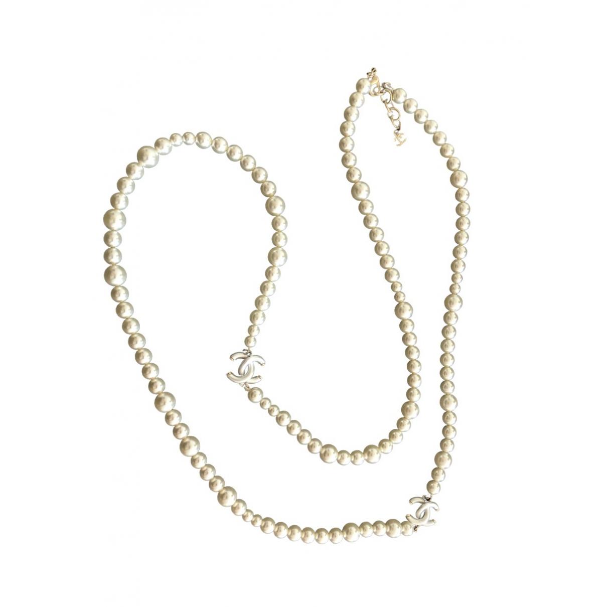Chanel - Collier   pour femme en perles - blanc