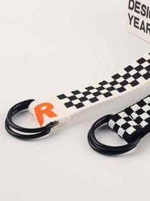 2pcs Letter Graphic Tape Belt
