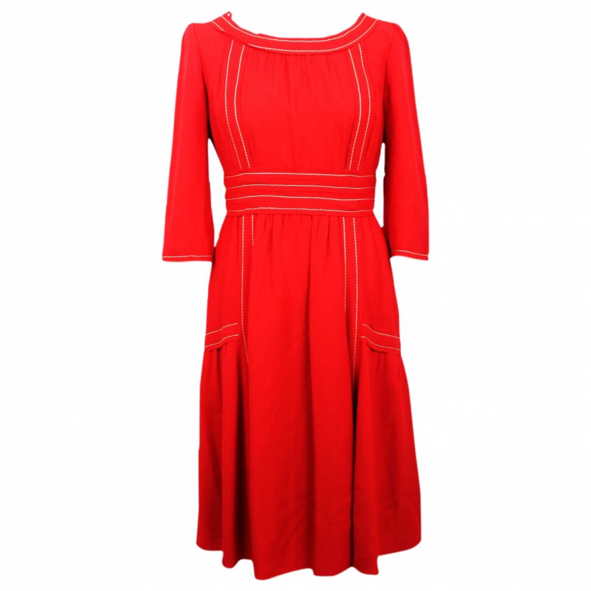 Prada \N Kleid in  Rot Synthetik