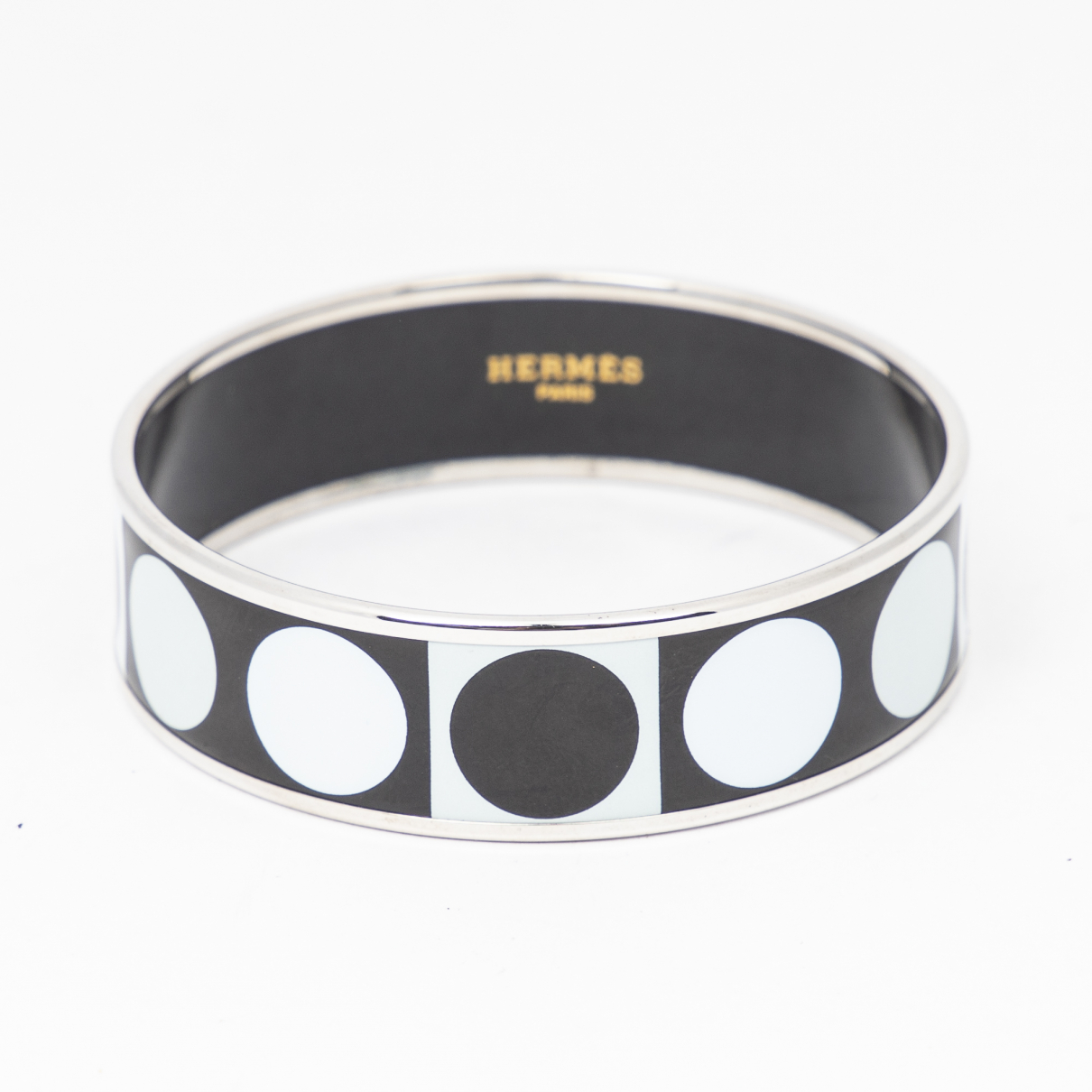 Hermes - Bracelet   pour femme en metal - blanc