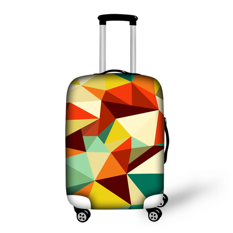 Creative Geometry Pattern 3D Painted Luggage Protect Cover