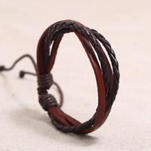 Men Braided PU Leather Bracelet