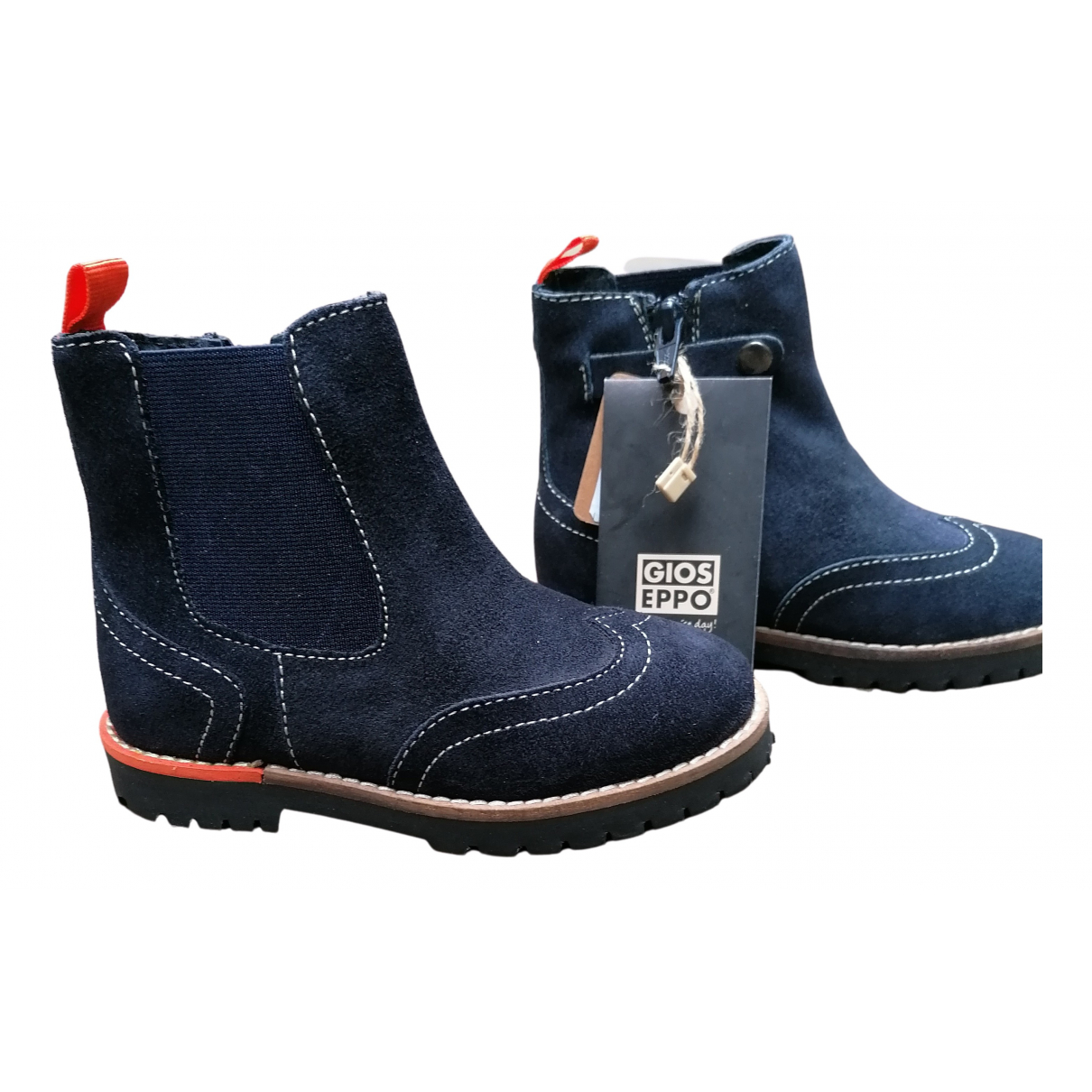 Gioseppo N Navy Suede Boots for Kids 26 FR