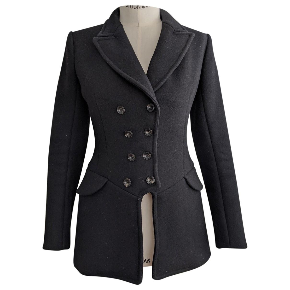 Alaia - Manteau   pour femme en laine - noir