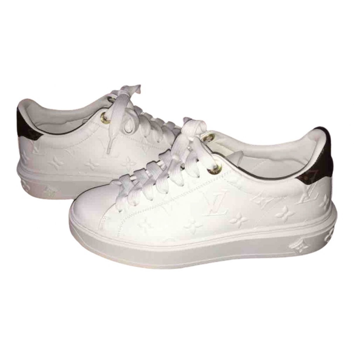 Louis Vuitton - Baskets TimeOut pour femme en cuir - blanc
