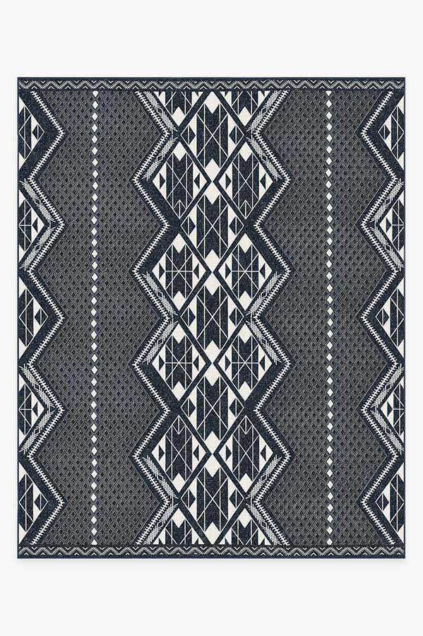 Washable Rug Cover & Pad | Halona Midnight Rug | Stain-Resistant | Ruggable | 8'x10'