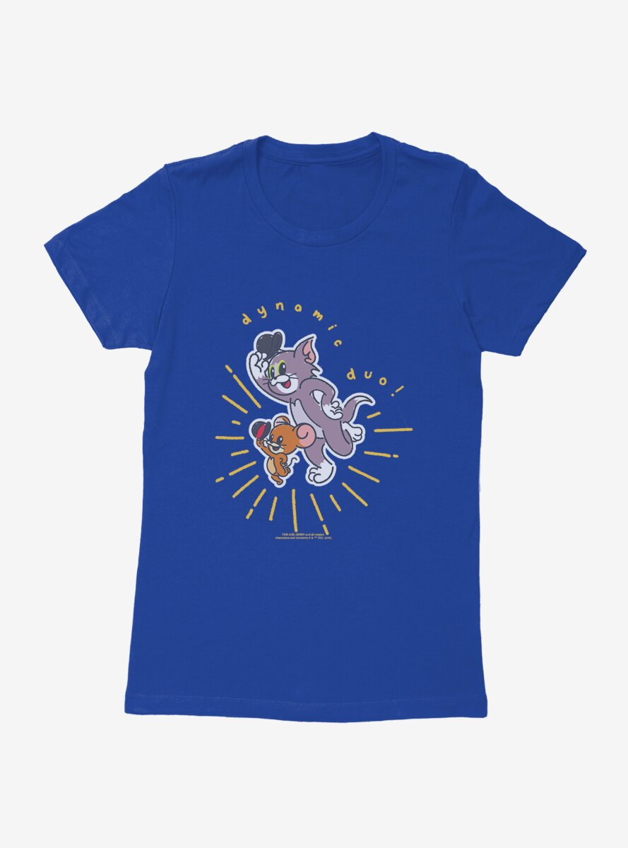 Tom And Jerry Dynamic Duo Womens T-Shirt