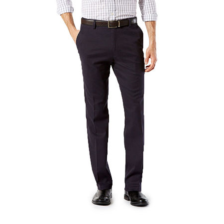 Dockers Men's Straight Fit Easy Khaki with Stretch Pants D2, 29 30, Blue
