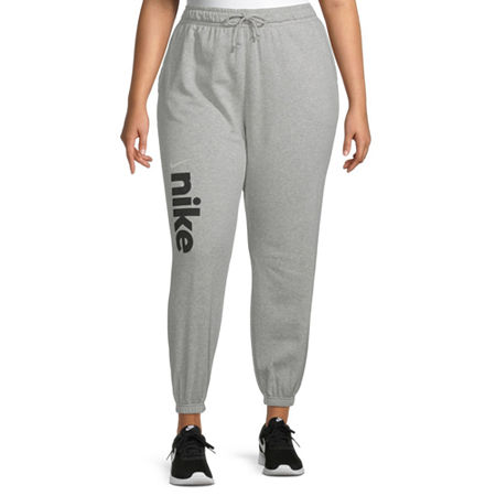 Nike Womens Mid Rise Plus Jogger Pant, 2x , Gray