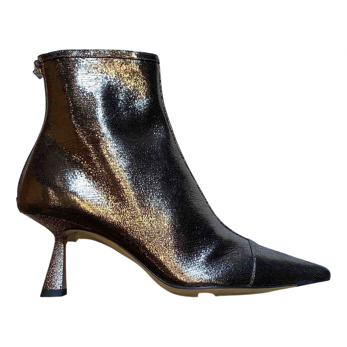 Jimmy Choo \N Metallic Leather Boots for Women 37 EU
